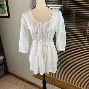 Ann Taylor Loft White Blouse Size 6